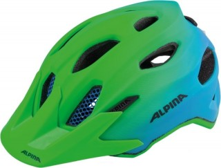 přilba ALPINA Carapax Jr Flash 2018 green/blue
